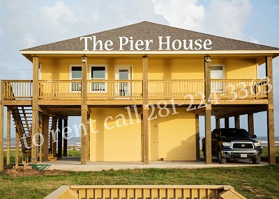 The Pier House Rental at Sargent Texas